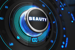 Controlador da beleza no console de controle preto Fotos de Stock