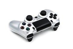 Controlador de console de prata do jogo Imagens de Stock