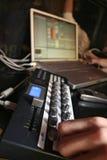 Controlador de Midi - DJ 3 Fotografia de Stock Royalty Free