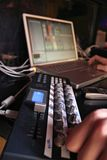 Controlador de Midi - DJ 4 Fotografia de Stock Royalty Free