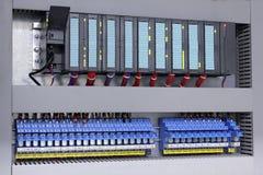 Controlador e relés programáveis da lógica Imagens de Stock Royalty Free