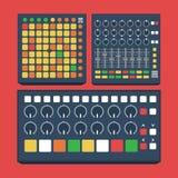Controlador midi plano del diseño del vector Fotos de archivo libres de regalías