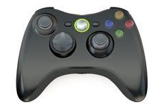 Controlador preto do jogo Imagens de Stock