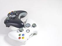 Controlador preto e branco do jogo Imagens de Stock