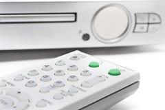Controlador remoto com reprodutor de DVD Imagens de Stock