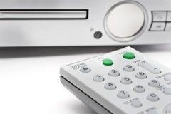 Controlador remoto com reprodutor de DVD Fotos de Stock Royalty Free