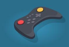Controlador sem fio Icon do manche ou do jogo de vídeo Fotografia de Stock Royalty Free