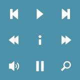Controlador Vetora Icon Set dos multimédios Foto de Stock Royalty Free