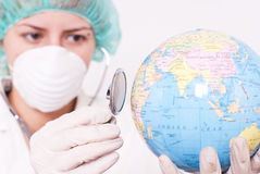 Controlar estado de salud Imágenes de archivo libres de regalías