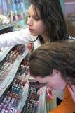 Controlar hacia fuera la sección del maquillaje imagenes de archivo