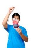 Controlar la muestra de sangre Imagen de archivo libre de regalías
