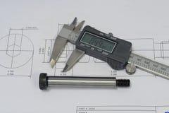 Controle 1 da qualidade do CAD Foto de Stock Royalty Free