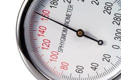 Controle 160 da pressão sanguínea Fotos de Stock Royalty Free