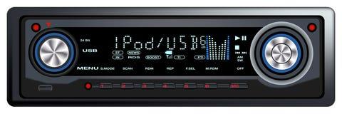 Controle audio Syste do carro moderno Fotos de Stock Royalty Free