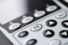 Controle botões com indicação digital para medir Fotos de Stock Royalty Free