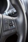 Controle botões no volante do veículo Imagens de Stock Royalty Free