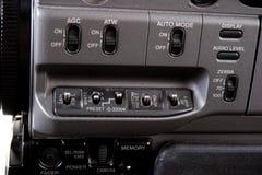 Controle da câmara de vídeo de Dv Foto de Stock