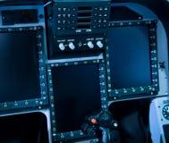 Controle da cabina do piloto Imagem de Stock