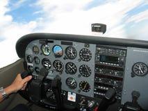 Controle da cabina do piloto Fotos de Stock