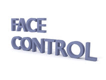 Controle da face Ilustração do Vetor