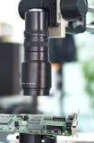 Controle da inspeção da câmera Fotografia de Stock Royalty Free