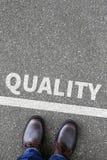 Controle da qualidade e serviço do conceito do negócio da gestão Imagens de Stock