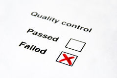 Controle da qualidade - falhado imagem de stock royalty free