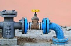 Controle da tubulação de água Fotos de Stock