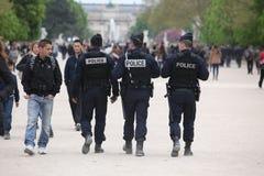 Controle de polícia francês a rua, Paris os 27 Fotos de Stock Royalty Free