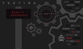 Controle de qualidade process_2 ilustração stock