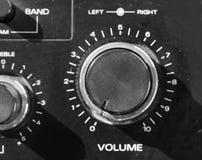 Controle de volume imagem de stock
