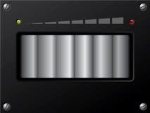 Controle de volume com conduzido ilustração do vetor