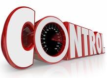 Controle dicteert 3d Word de Machtskracht van de Snelheidsmeterinvloed Outcom Stock Fotografie