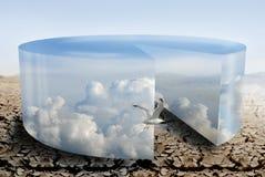Controle do clima durante a seca ilustração royalty free