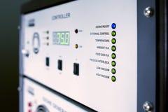 Controle do gerador do ozônio foto de stock
