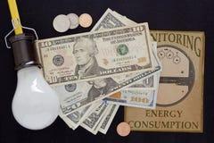 Controle do pagamento para a eletricidade Imagem de Stock Royalty Free