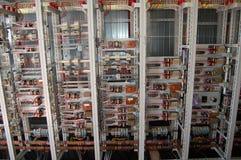 Controle elétrico da placa de interruptor Foto de Stock Royalty Free
