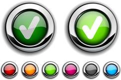 Controle el botón. stock de ilustración