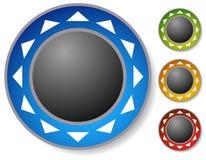 Controle el botón, palanca de mando con las flechas alrededor Concepto de la alineación ilustración del vector
