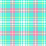 Controle el diseño del tartán de la tela escocesa Fotografía de archivo