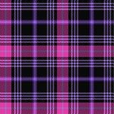 Controle el diseño del tartán de la tela escocesa Fotos de archivo
