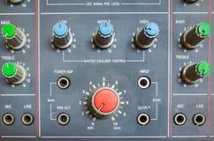 Controle el sonido Imagen de archivo libre de regalías