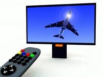 Controle en TV 18 van TV Stock Foto