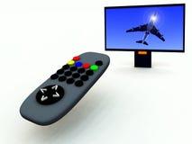 Controle en TV 3 van TV Stock Fotografie