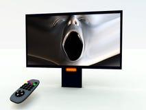 Controle en TV 5 van TV Stock Afbeeldingen