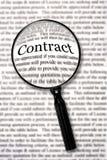 Controle ese contrato ilustración del vector