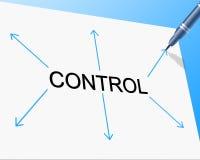 Controle a los directores Head y autoridad de los medios que controlan ilustración del vector