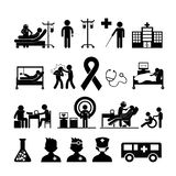 Controle medisch in het ziekenhuis royalty-vrije stock afbeelding