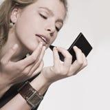 Controle mis labios Imágenes de archivo libres de regalías
