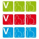 Controle o logotipo com cão, gato e rato Imagens de Stock Royalty Free
